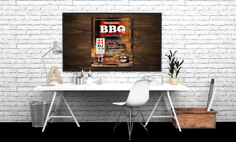 plakat reklamowy bbq prezentacja
