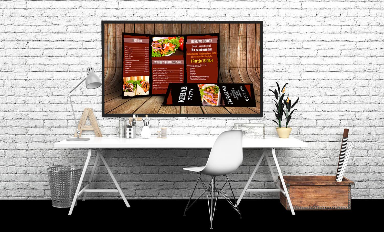 ulotka menu kebab fast food