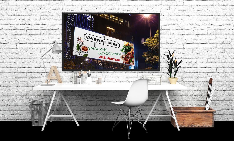 swojskie jadło szyld reklamowy prezentacja